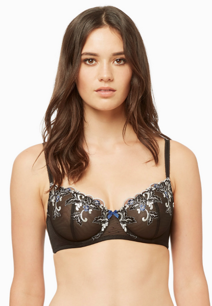 BLUSH LINGERIE* Midnight Garden Demi Bra
