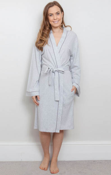 ERICA GREY KNIT MODAL/COTTON WRAP