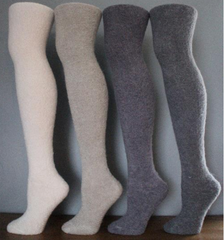 TERRY FUZZ OVER THE KNEE SOCKS 3x Colours