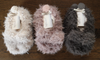 SHAGGY BUNNY SLIPPERS 3X COLOURS