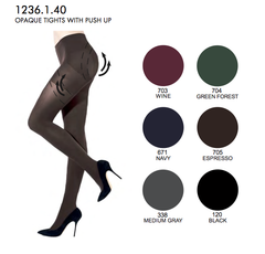3 DIMENTION OPAQUE TIGHTS WITH PUSH-UP EFFECT ( 4x colours )
