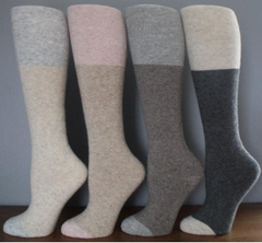 INSIDE TERRY COLORBLOCK KNEE HIGH SOCKS 4x Colours