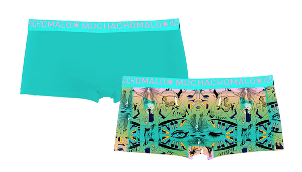 MUCHACHOMALO* Ladies 2-Pack Boy Shorts