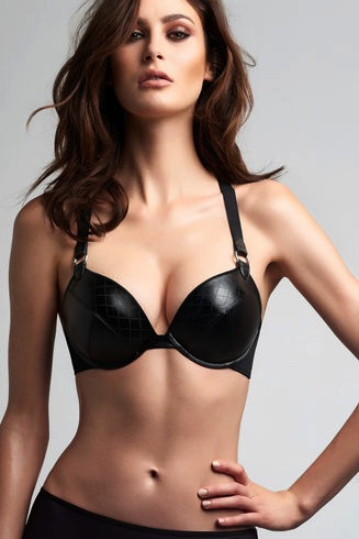 MARLIES DEKKERS* Femme Fetale Leather Double Push-Up Bra