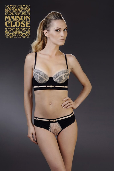 MAISON CLOSE* LA CAVALIERE SOUTIEN GORGE PUSH UP 32-34, C-E Cups ( U.K sizing standards )
