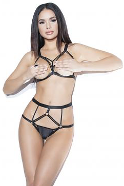 COQUETTE* Cupless Bra & Crotchless Panty