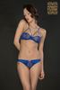 VILLA SATINE BLUE NAKED BREAST BRA