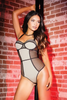 COQUETTE* Fishnet Panel Teddy