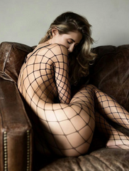 HAND MADE, FISHNET CATSUIT (3X COLOURS )