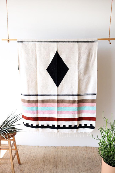 WILDFLOWER DIAMOND HANDWOVEN BLANKET