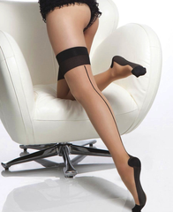 COQUETTE* Sheer Cuban Heel Thigh Highs