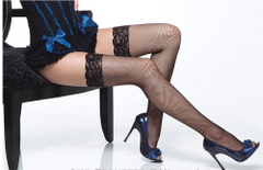 COQUETTE* Fishnet Thgh High Stocking