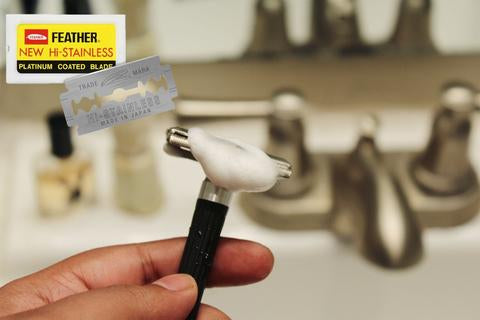 Razor blades have a longer lifetime as double-sided blades are used.