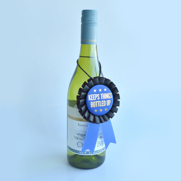 Keeps Things Bottle Up Wine Ribbon