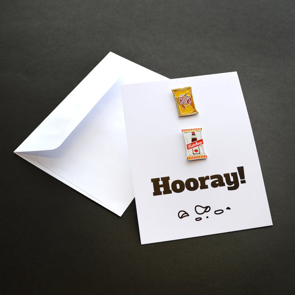 Chip Chip Hooray! Pin Card