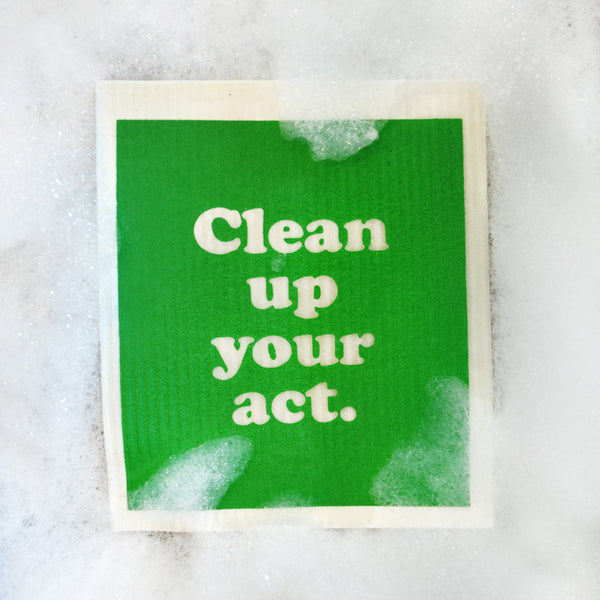 Clean Up Your Act Swedish Dishcloth