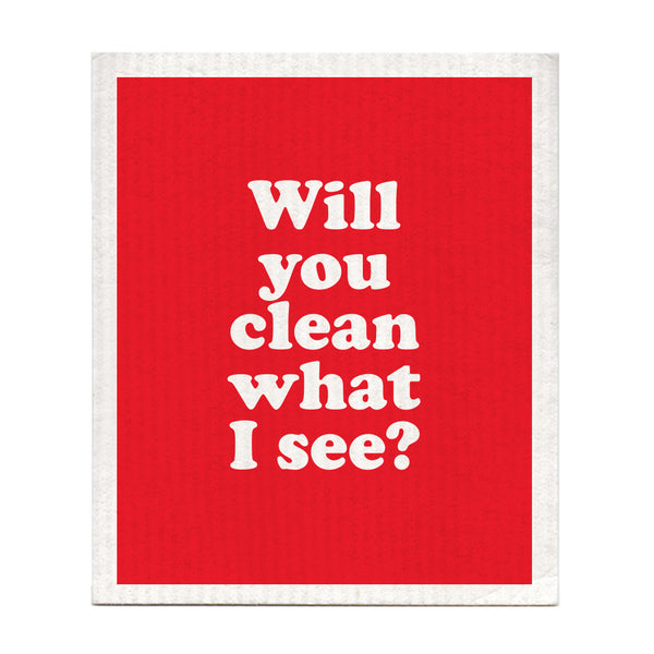 Will You Clean What I See? Dishcloth