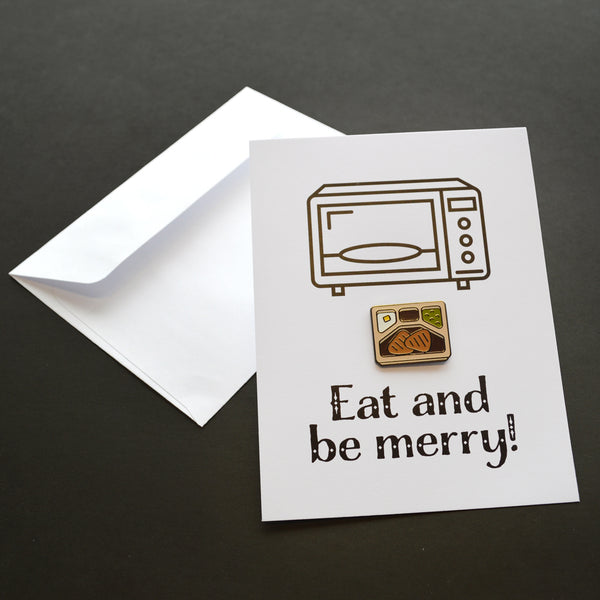 Eat And Be Merry Pin Card