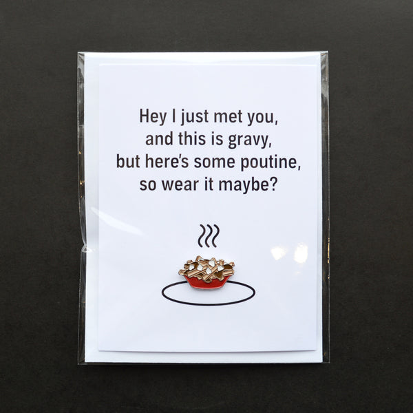 Poutine Pin Card