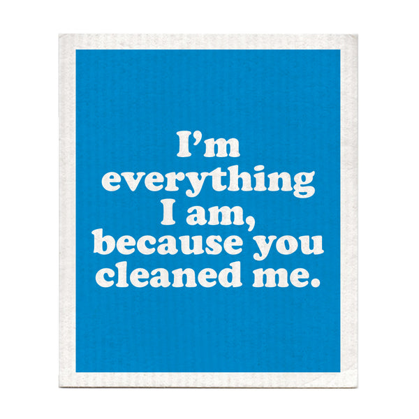 Because You Loved Me Swedish Dishcloth