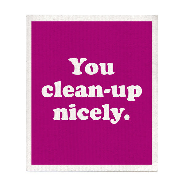 You Clean Up Nicely Swedish Dishcloth