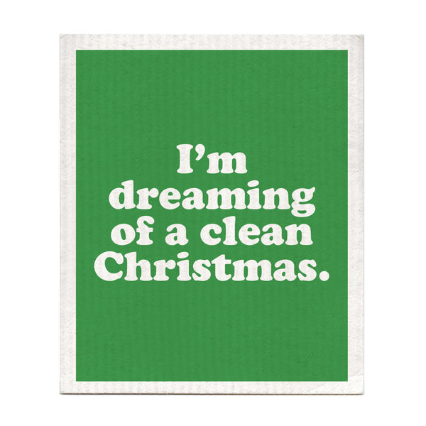 I'm Dreaming Of A Clean Christmas Dishcloth
