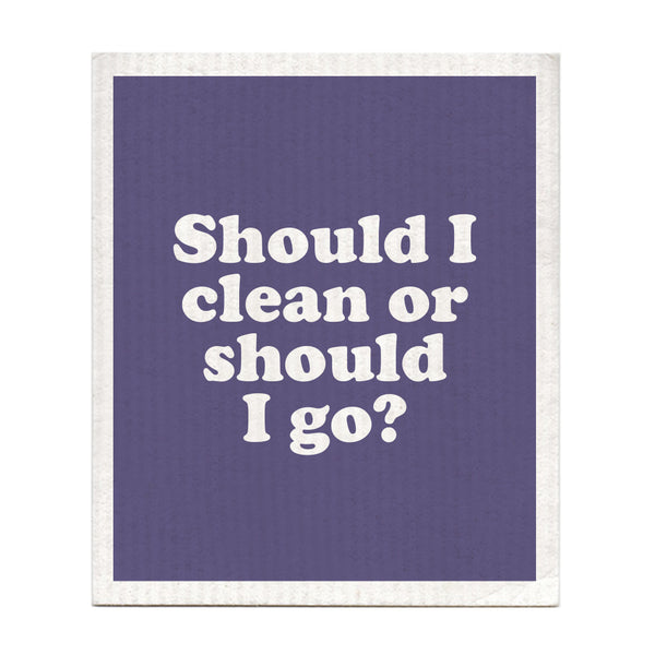 Should I Stay Or Should I Go? Swedish Dishcloth
