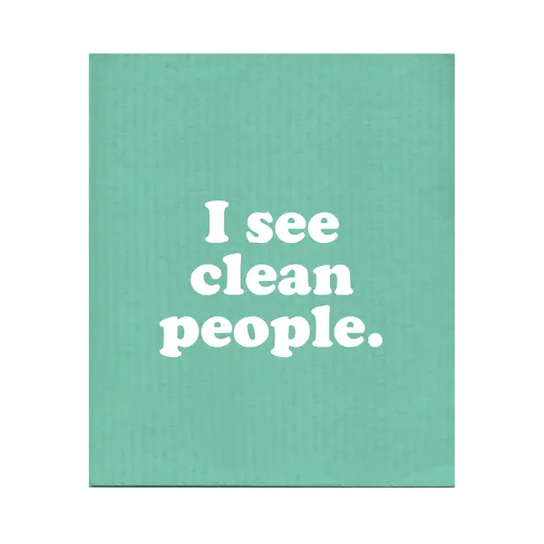 I See Clean People Swedish Dishcloth