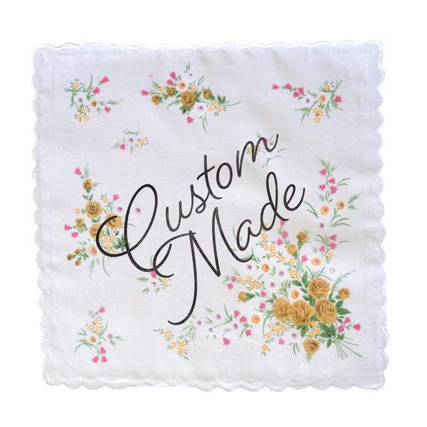 Custom Wedding Handkerchiefs