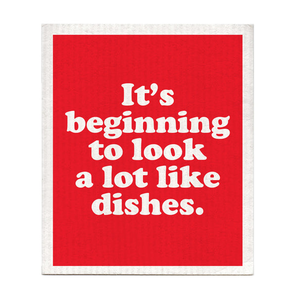 It's Beginning To Look A Lot Like Dishes Dishcloth