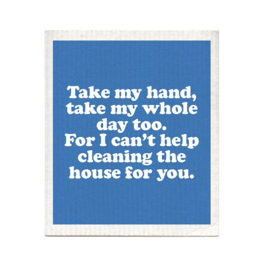 Take My Hand Swedish Dishcloth