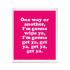 One Way Or Another Swedish Dishcloth