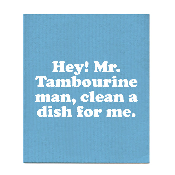 Hey! Mr. Tambourine Man Swedish Dishcloth