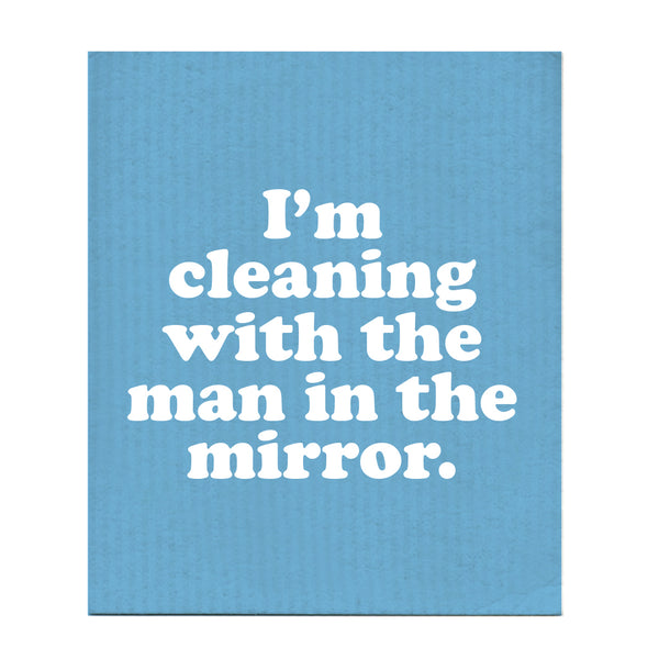 Man In The Mirror Swedish Dishcloth