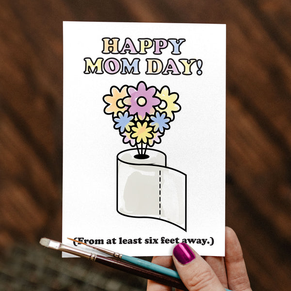 FREE! Isolation Coloring Greeting Cards