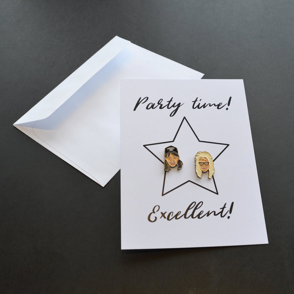 Party Time! Excellent! Pin Card