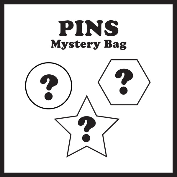 Mystery Enamel Pins Bag (Set of Three)