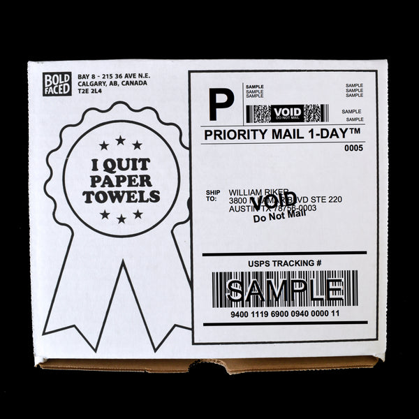I Quit Paper Towels Supply Box