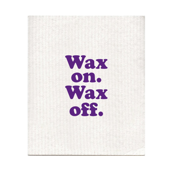 Wax On Wax Off Swedish Dishcloth