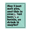 Hey I Just Met You, And This Is Crazy, But Here's A Bottle, So Drink It Maybe? Wine Label