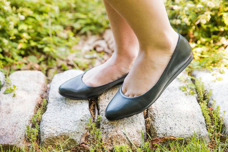 Alina Black Leather -  WEDGE - ...me Too