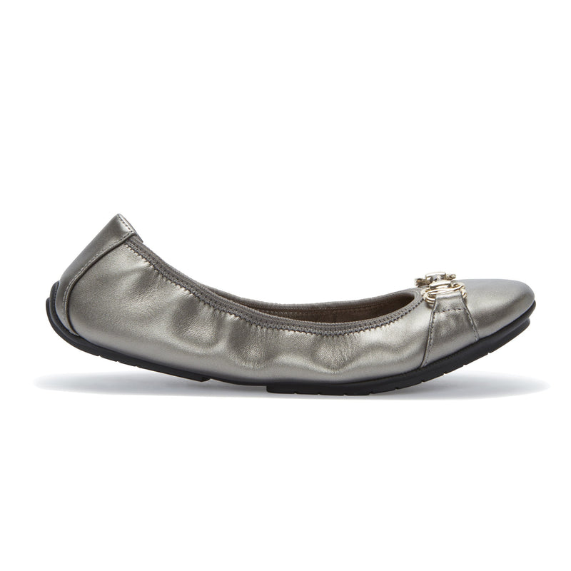 Olympia Ballet Flat w/Silver Chain