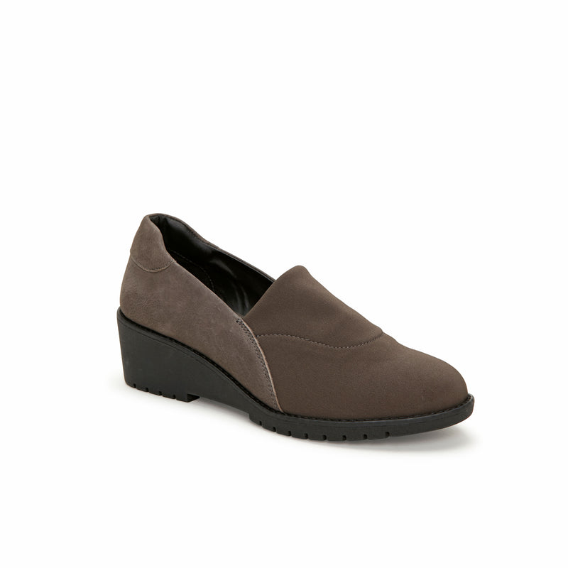 Nolte Charcoal Leather -  Loafer - Adam Tucker