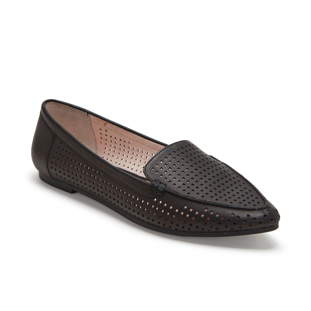 Aleeza Black Leather -  Loafer - me too