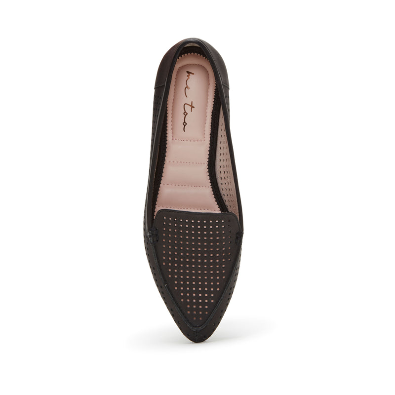Aleeza Black Leather -  Loafer - ...me Too