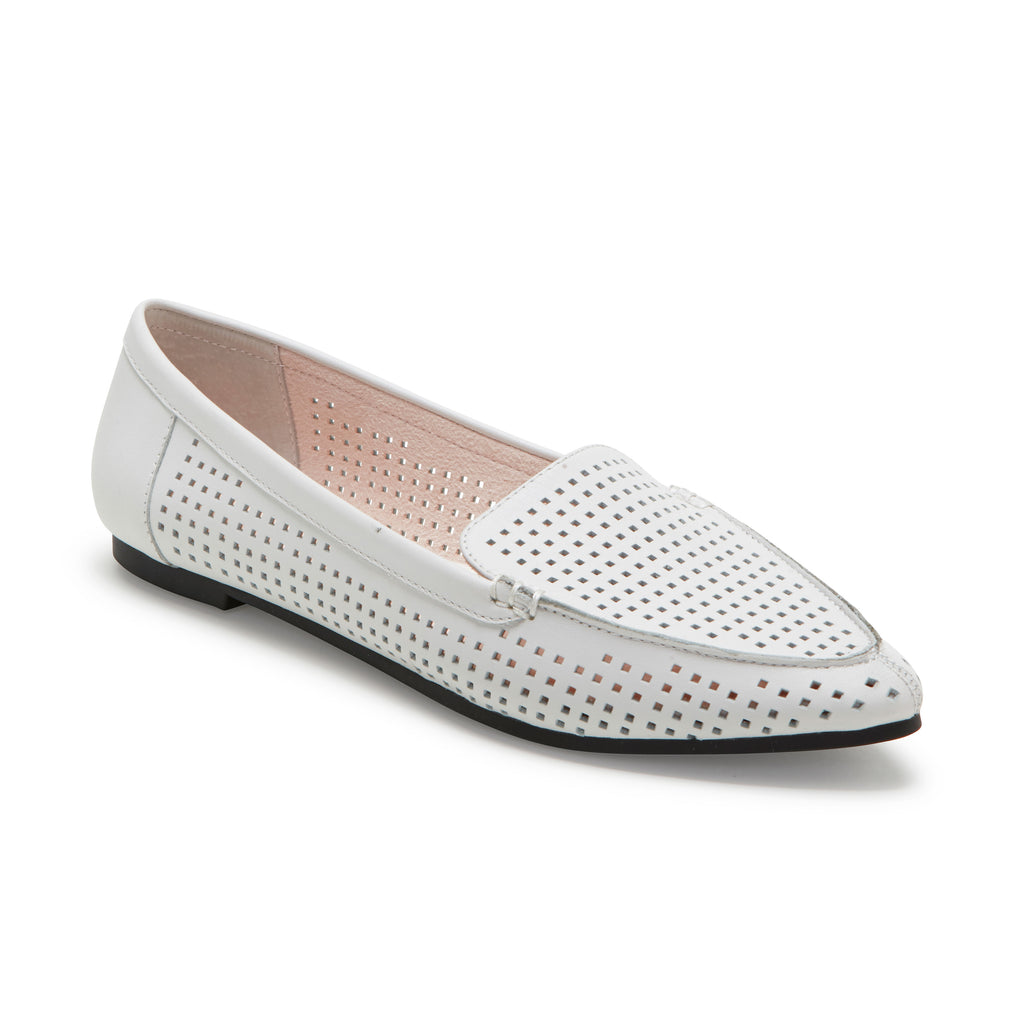 Aleeza White Leather -  Loafer - ...me Too