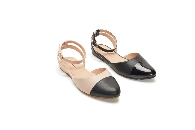 Antonia Nude & Black Leather -  SANDAL - ...me Too