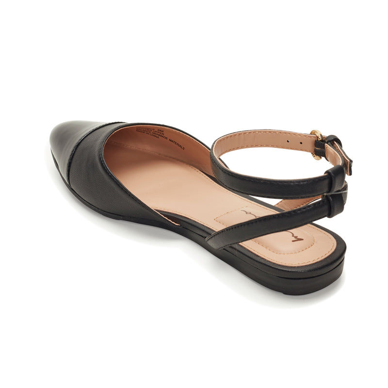 Antonia Black Leather -  SANDAL - me too