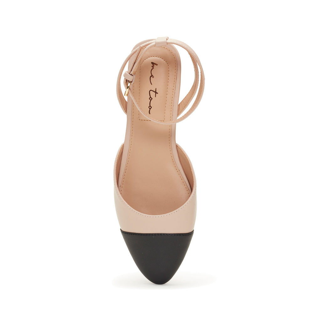 Antonia Nude & Black Leather -  SANDAL - me too