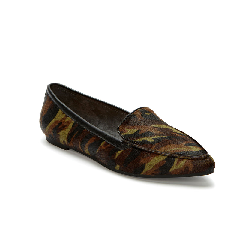 Audra Animal Print Pointed Toe Flat